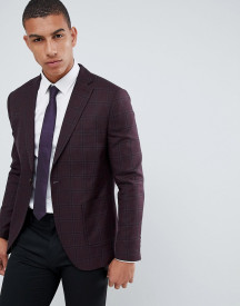 Selected Homme Check Blazer With Notch Lapel And Patch Pockets In Slim Fit afbeelding