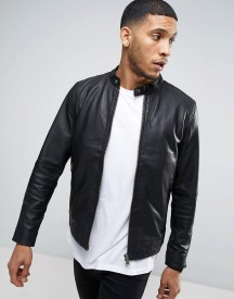 Selected Homme Leather Jacket afbeelding