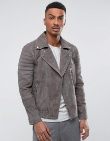 Selected Suede Biker Jacket afbeelding