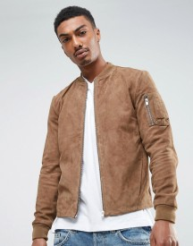 Selected Homme Suede Bomber Jacket afbeelding