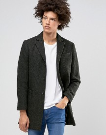 Selected Homme Wool Overcoat With Fleck Detail afbeelding