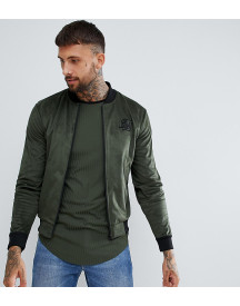 Siksilk Bomber Jacket In Khaki Exclusive To Asos afbeelding
