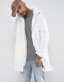 Sixth June Lightweight Parka In White With Hood afbeelding
