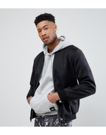 Sixth June Logo Bomber In Black Faux Suede Exclusive To Asos afbeelding