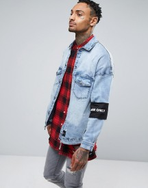 Sixth June Denim Jacket In Blue afbeelding