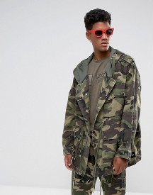 Sixth June Oversized Parka In Camo afbeelding