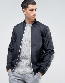 Solid Bomber Jacket In Black afbeelding