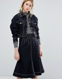 Sportmax Code Alcamo Denim Look Jacket Co-ord afbeelding