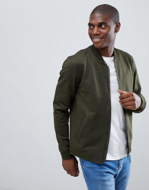 Ted Baker Jersey Bomber In Green Geo Print afbeelding