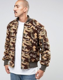 The New County Camo Teddy Bomber Jacket afbeelding