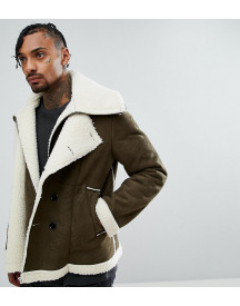 The New County Double Layered Biker Jacket In Faux Shearling afbeelding