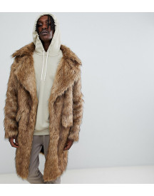 The New County Heavyweight Faux Fur Coat In Natural afbeelding