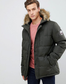 Threadbare Canada Parka Coat With Faux Fur Trim afbeelding