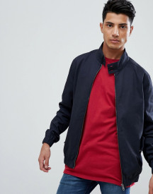 Threadbare Cotton Check Lined Harrington Jacket afbeelding