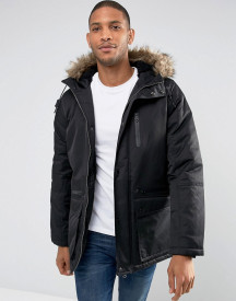Threadbare Faux Fur Borg Lined Parka afbeelding