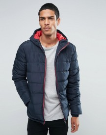 Threadbare Hooded Quilted Jacket afbeelding