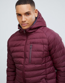 Threadbare Lightweight Puffer Jacket With Hood afbeelding
