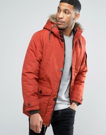 Threadbare Padded Coat With Faux Fur Hood afbeelding