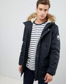 Threadbare Parka Coat With Faux Fur Trim Hood afbeelding