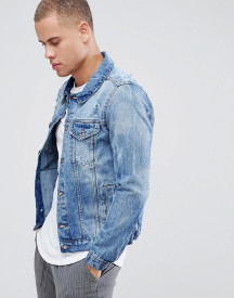 Threadbare Vintage Ripped Denim Jacket afbeelding