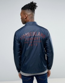 Timberland Coach Jacket Back Logo Slim Fit In Navy afbeelding
