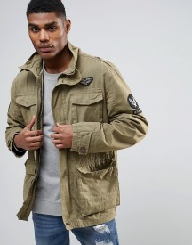 Tokyo Laundry Military Shirt Jacket With Badges afbeelding