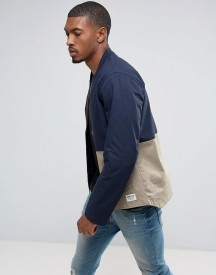 Tom Tailor Bomber Jacket With Open Hem And Colour Panel Detail afbeelding