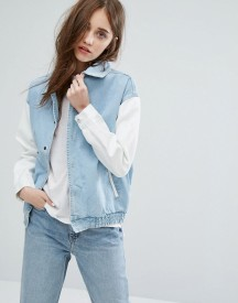 Twiin End Game Varsity Denim Trucker Jacket afbeelding