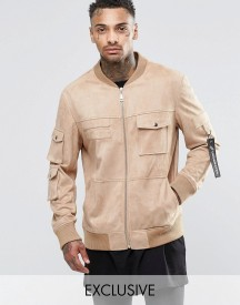 Underated Faux Suede Utility Jacket afbeelding