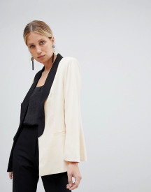 Unique 21 Blazer With Contrast Collar afbeelding