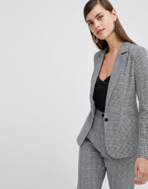 Unique 21 Check Tailored Single Button Blazer afbeelding