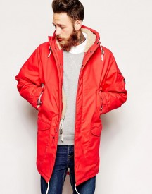 Universal Works Parka In British Waxed Cotton With Borg Lining afbeelding