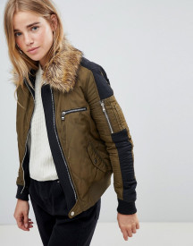Urban Bliss Atlantic Fur Collar Bomber afbeelding