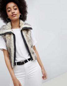 Urban Bliss Cropped Fur Gilet afbeelding