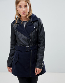 Urban Bliss Kentucky Wool Pu Mix Jacket afbeelding
