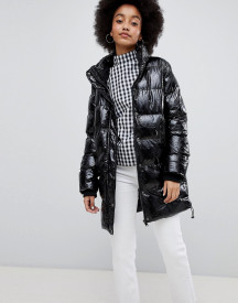 Urban Bliss Padded High Shine Coat afbeelding