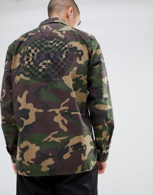 Vans Arlington Shacket With Back Print In Green Va3h4gph8 afbeelding