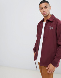 Vans Torrey Fleece Coach Jacket In Burgundy afbeelding