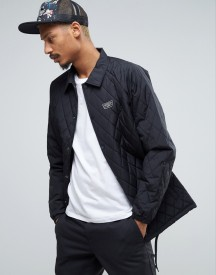 Van Quilted Coach Jacket In Black Va2wgbblk afbeelding