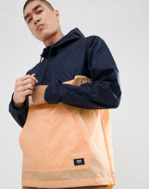 Vans Washburne Packable Windbreaker In Navy Va371gpgh afbeelding
