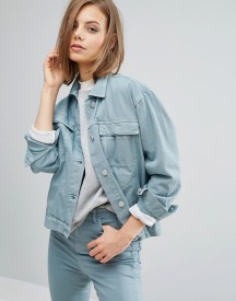 Waven Karin Girlfriend Denim Jacket afbeelding