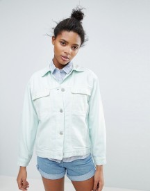 Waven Karin Pastel Oversized Denim Jacket afbeelding