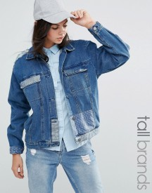 Waven Tall Patchwork Denim Jacket afbeelding