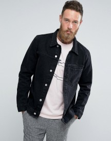 Weekday Core Denim Jacket Glory Black afbeelding