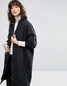 Weekday Long Bomber Coat afbeelding