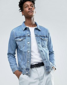 Weekday Single Denim Jacket Wd Blue Mid Wash afbeelding