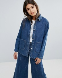 Wood Wood Nia Relaxed Denim Jacket afbeelding