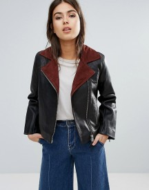 Wood Wood Real Leather Aviator Jacki Jacket afbeelding