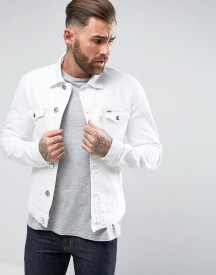 Wrangler The Slim Authentic Denim Jacket White Ripped afbeelding