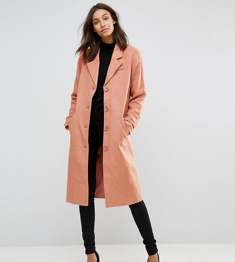 Image Y.a.s Tall Button Down Peacoat